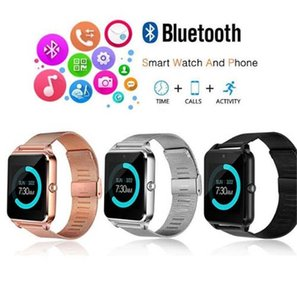 Wholesale Z60 Bluetooth Smart Watch Men Smartwatch Android ios Phone Call G GSM SIM TF Card Camera Touch clock reloj inteligente