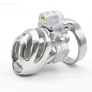 Wholesale Stainless Steel Male Short Cock Cage Detachable PA Lock Substitutable Nail Penis Ring Chastity Device Bondage Restraint BDSM Sex Toy For Men