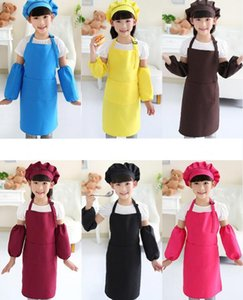 Wholesale Kids Aprons Pocket Craft Cooking Baking Art Painting Kids Kitchen Dining Bib Children Aprons Kids Aprons colors
