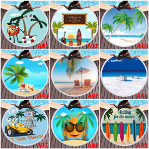 59 Inch Microfiber Round Beach Towel Designer 3D Printed Tassel Bath Towels for Child Adult Camping Picnic Blanket Home Decor Wall Tapestry