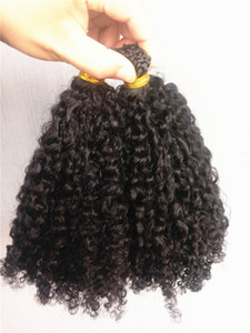 New Arrive Brazilian Human Kinky Curly Pre-bonded Hair Extensions Natral Black Color 1g pc 100g one bundle