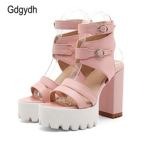 Gdgydh Hot Sales 2017 Summer Gladiator Women Sandals Sexy High Heels Cut-outs Female Sandals Open Toe Platform Ladies Shoes