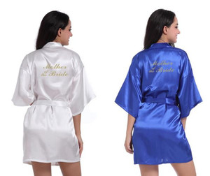 glitter wedding satin robes Bride Bridesmaid maid of honor mother of bride kimonos gowns gifts party favors 4pcs lot free shipping
