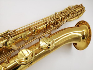 Wholesale New Arrival YANAGISAWA B Baritone Saxophone Brass Tube Gold Lacquer Surface Sax Brand Instruments With Mouthpiece