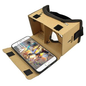 Wholesale New Virtual Reality Glasses Google Cardboard Glasses D Glasses VR Box Movies For iPhone Smartphones VR Headset For Xiaomi
