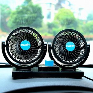 Wholesale 12V Mini Electric Car Fan Low Noise Summer Car Air Conditioner Degree Rotating Gears Adjustable Air Cooling Fan