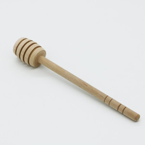 Mini Wooden Honey Stick Honey Dipper Party Supply Wood spoon for Honey Jar Long Handle Mixing Stick