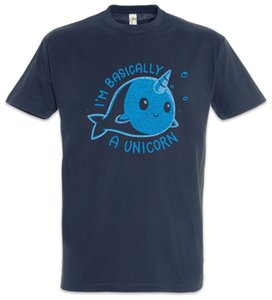 Wholesale I m Basically A Unicorn T Shirt Whale Narwahl Fun Horn Rainbow Fairies Funny Unisex Casual