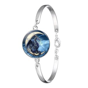 Dragon Glass Cabochon BraceletBangle Accessories Creative Unisex Jewelry Gifts