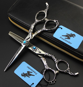 2018 6.0 inch Japan TB-63 Professional Hairdressing Scissors Barber Cutting Scissors Thinning Scissors Hair Shear Tools