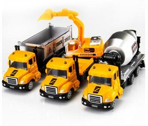 Wholesale Kids metal truck mold fire truck rescue vehicle sanitation truck container transport vehicle mini cartoon car models toys gifts