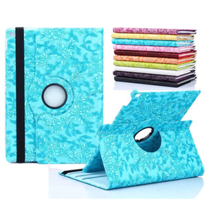 Wholesale Luxury Girl Grape Grain Pattern PU leather degree Rotating Cover Stand case iPad Mini iPad New ipad Pro