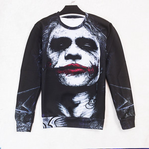 Wholesale Male Female Factory Fashion Spiral Direct JACK IN THE BOX Long Sleeve T shirt Biker Tattoo Clown Goth Top Ypf96