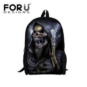FORUDESIGNS New Kindergarten Boy Backpack Baby Children School Bags For Kid Cool Skull Backpacks Bag Mochila Children's Gifts
