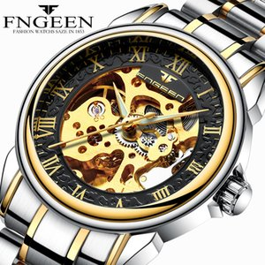 Men Watches Automatic Mechanical Watch Male Tourbillon Clock Gold Fashion Skeleton Watch Top Brand Wristwatch Relogio Masculino D18100706