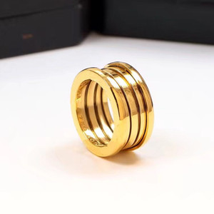 Wholesale 2018 New arc star models spring ring plated K color gold ring female wide couple ring titanium steel rose gold