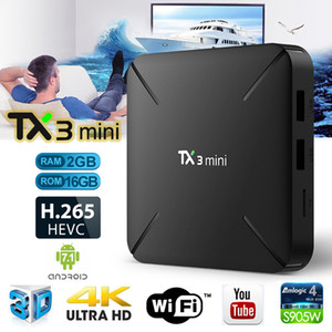 Wholesale TX3 Mini android tv box Amlogic S905W quad core GB GB tv box with K Ultra HD video streaming media player