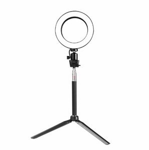 Mini Photo Studio LED Camera Ring Light Dimmable Phone Video Phtography Lamp With Tripod Selfie Stick Fill Light for Live Makeup Lighting on Sale