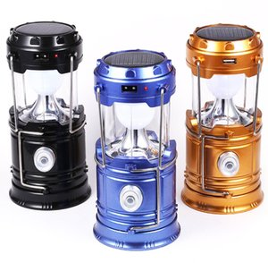 Wholesale Solar Lamps New Style Portable Outdoor LED Camping Lantern Solar Lights Collapsible Light Outdoor Camping Hiking Super Bright Led Light