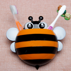 Wholesale Cartoon Bee Ladybug Sucker Toothbrush Holder Wall Suction Hook Tooth Brush Holder Home Decor For Kids Bathroom Accessories