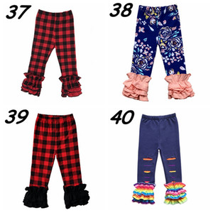 Kids Easter ruffle leggings Valentine's Day Baby Spring Autumn ruffle pants Kids icing donuts egg St. Patrick Boutique cloth