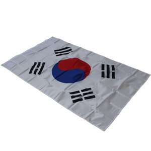 Wholesale Large Size cm South Korea National Flag Taegeukgi Flags Polyester The Korean National Banner x5ft Parade Festival Home Decoration