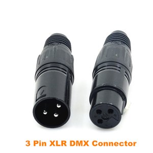Wholesale 10 Pairs Metal Pin XLR Male and Female DMX Connector for Stage Light DMX512 Cable Connector Stage Lighting Accessories