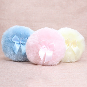 Wholesale Professional Butterfly Baby Cosmetic Villus Powder Puff Sponge for Talcum Powder Makeup Cosmetic Plush sponges
