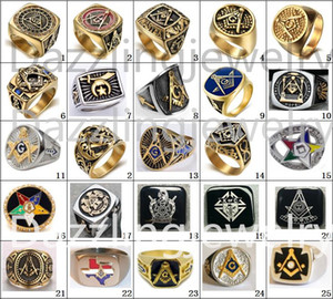 Wholesale stars channel for sale - Group buy 2017 Newest designs freemaoson masonic rings past master ring Demolay and Knights of columbus ring jewelry eastern star ring men women