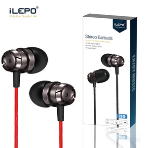 iLepo Stereo headset Wired Earphones Sports Earbuds 3.5mm jack Headset in ear headphones with Remote and Mic for i6 7plus cell phone