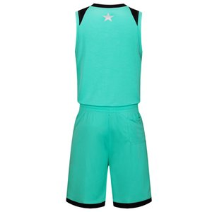 Wholesale 2019 New Blank Basketball jerseys printed logo Mens size S-XXL cheap price fast shipping good quality Teal Green T004