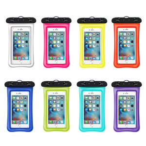 Wholesale Waterproof Phone Pouch Universal Floating Waterproof Case Fingerprints Available TPU Clear Dry Bag for iPhone X Plus
