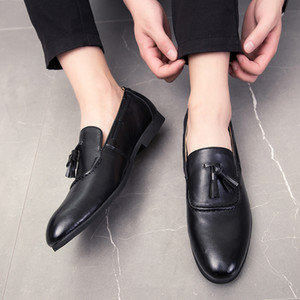 Wholesale ARUONET Comfort Leather Shoes Men Handmade Casual Flats Man British Style Driving Shoes Leather Men Erkek Sneaker Ayakkabi