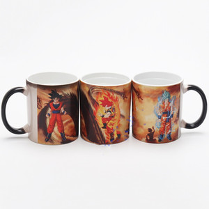 Wholesale Change Colour Cups Dragon Ball Ceramics Mug Women Men Milk Tea Tumbler Cartoon Hand Shank Business Gifts sh C1kk