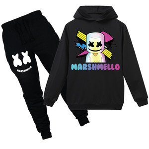Wholesale marshmello mask for sale - Group buy Marshmello Dj Mask Boys Hoodie Cotton New Spring Sweatshirts Cotton Girls T Shirt Kids Clothes Fortnight Hoodie Tracksuits