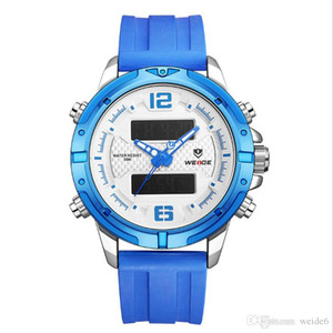 Wholesale Weide WH8602 Men s Quartz Electronic Dual Display Watch Japan Brand Movement Silicone Meter LED Multifunction Watch