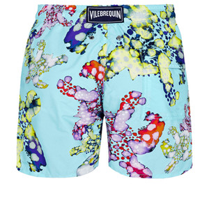 Vilebrequin MEN SWIMWEAR HERRINGBONES TURTLES Newest Summer Casual Shorts Men Fashion Style Mens Shorts bermuda beach Shorts 032