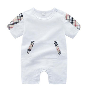 Wholesale Baby Luxury Designer Jumpsuits Bag Printed Newborn Clothes Toddlers Fashion Rompers Kids Short Sleeve Baby Rompers