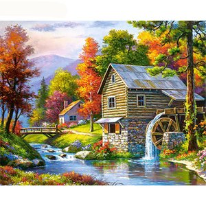 Wholesale GATYZTORY Frame Fairyland DIY Painting By Numbers Modern Wall Art Canvas Painting Picture By Numbers Landscape For Home Decors