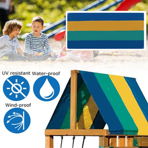 Wholesale playgrounds sets for sale - Group buy Waterproof Tent Roof Cover Printed Strips Playground Swing Set Replacement Tarp L9