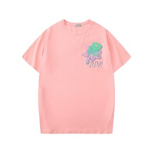 20ss Summer New Womens Designer T Shirts Flower Tshirts Fashion Rose Embroidery Short Sleeve Lady Tees Casual Clothes Tops Clothings S-2XL