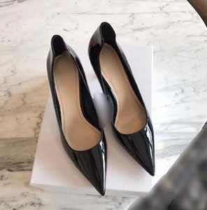 Wholesale Designer luxurious women Classic seasons patent leather stilettos high heels party fashion girls sexy pointed Wedding shoes dress shoes