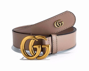 Wholesale 2019 Fashion leather belt for men and women simple joker letters smooth buckle brand leisure belt