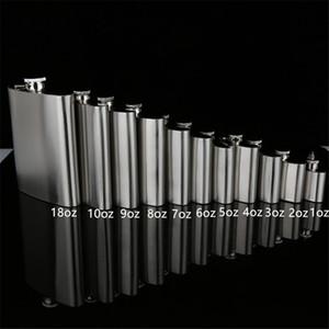 Stainless Steel Hip Flask Portable Outdoor Flagon Whisky Stoup Wine Pot Alcohol Bottles 1oz 2oz 3oz 4oz 18oz Flagon A03