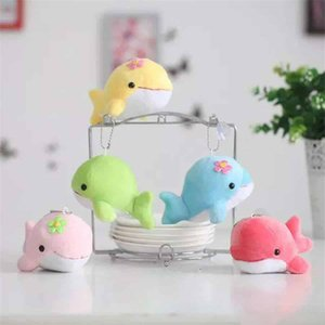 Wholesale Cute mini dolphin baby plush doll car pendant plush toy doll whale doll Stuffed Animals children s toys