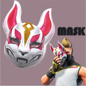 Wholesale Halloween Fox Mask Battle Royale Game Full Face Halloween Party Mask Best Selling Costume Cool Cosplay Plastic Mask