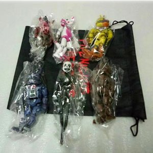 Wholesale 6 Set Lightening Movable Joints Five Nights At Freddy S Action Figure Toys Foxy Freddy Chica Pvc Model Dolls Kids Brinquedos