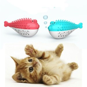 Wholesale Silicone Simulation Fish Toothbrush With Catnip Cat Toys Pet Interactive Toy For Cats To Clean Teeth Cat Toy Pet Supplies