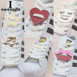 DIY Free to Match Rhinestone Plastic Metal Shoe Decorations for Shoes Lace Shoe Accessories for Casual Shoes Flats Sneakers