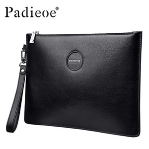 Wholesale New Men Genuine Leather Clutch Bag Famous Brand Designer Male Large Capacity Purse High Quality Handbag messenger vintage fashion bags Best